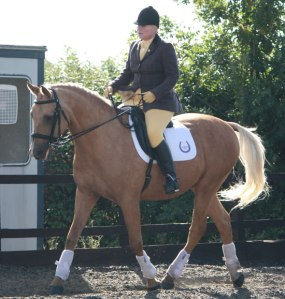 I was able to compete my beloved horse Chance, before he passed away